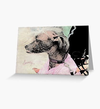 "Chinese Crested Dog ""Sorry"" ~ Greeting Card Greeting Card"