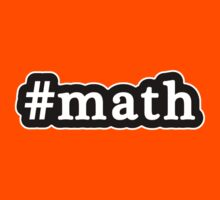 Math - Hashtag - Black & White Kids Clothes