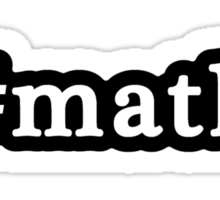Math - Hashtag - Black & White Sticker