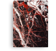 Black and red marble iphone case Canvas Print