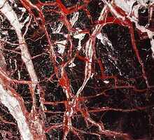 Black and red marble iphone case by mikath