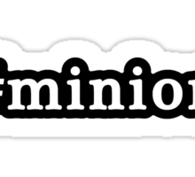 Minion - Hashtag - Black & White Sticker