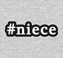 Niece - Hashtag - Black & White Baby Tee
