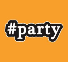 Party - Hashtag - Black & White by graphix
