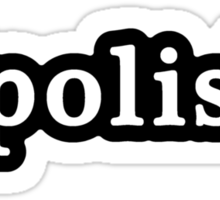 Polish - Hashtag - Black & White Sticker