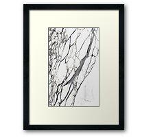 White marble iphone case Framed Print