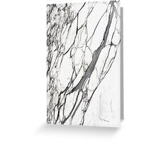 White marble iphone case Greeting Card