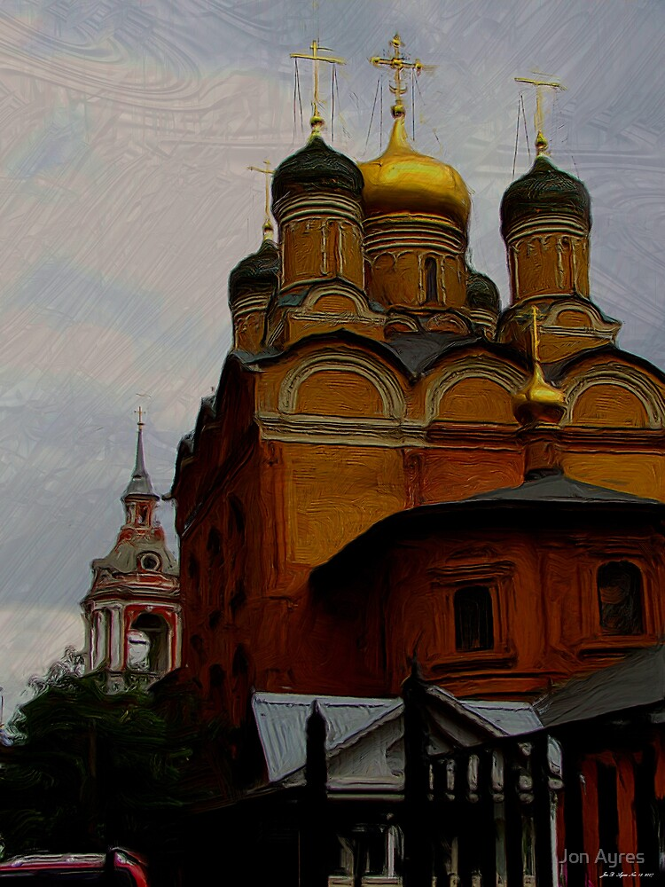 Structures of the former Znamensky Monastery by Jon Ayres