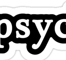 Psych - Hashtag - Black & White Sticker