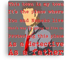 Detective and a Father Canvas Print