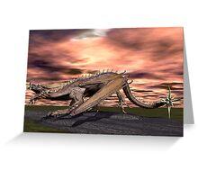 Crouching Dragon Greeting Card