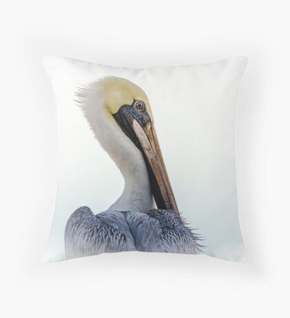 Portrait of a Pelican Throw Pillow