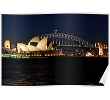 Opera House and Sydney Harbour Bridge Poster