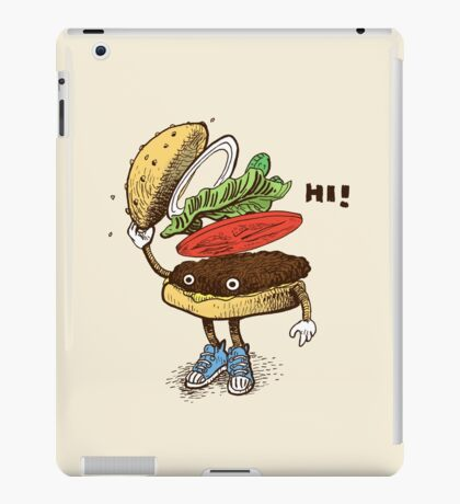 Burger Greeting iPad Case/Skin