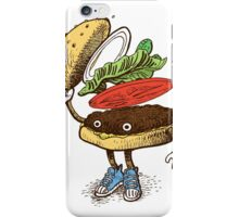 Burger Greeting iPhone Case/Skin
