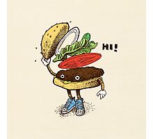 Burger Greeting Photographic Print