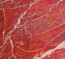 Red  marble iphone case by mikath