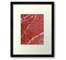 Red  marble iphone case Framed Print