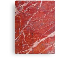 Red  marble iphone case Canvas Print