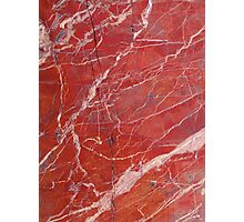 Red  marble iphone case Photographic Print