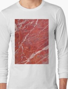 Red  marble iphone case Long Sleeve T-Shirt