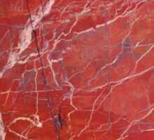 Red  marble iphone case Sticker