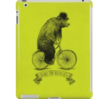 Bears on Bicycles (lime option) iPad Case/Skin