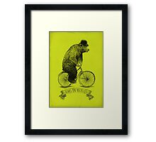Bears on Bicycles (lime option) Framed Print