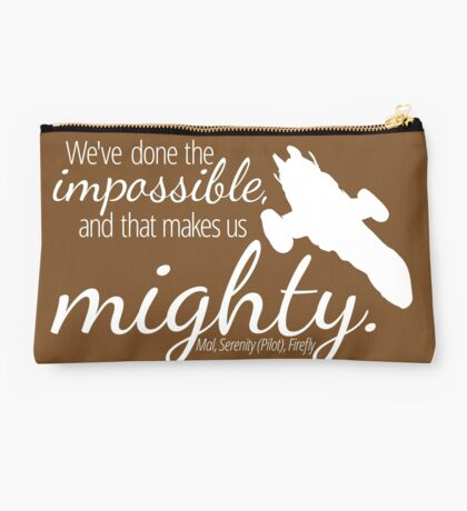 Impossible Makes Us Mighty (Dark) Studio Pouch
