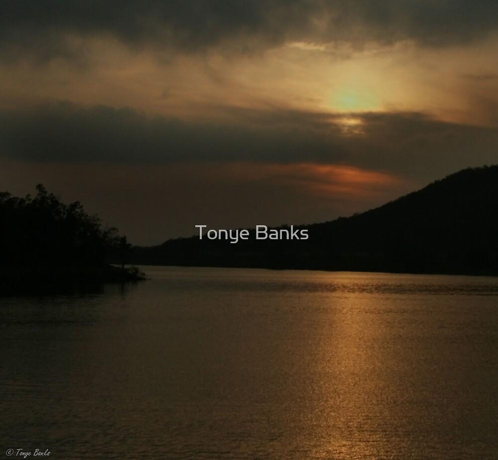 Sunset on the Lake by Tonye Banks