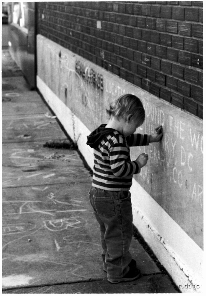 Child and Chalk by rudavis