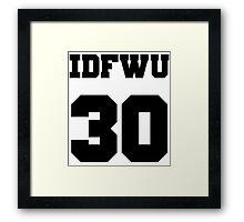 IDFWU Jersey Framed Print