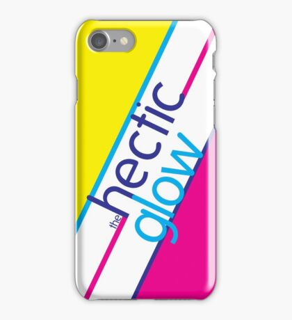 Hectic Glow Poster iPhone Case/Skin