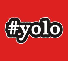 YOLO - Hashtag - Black & White Kids Clothes