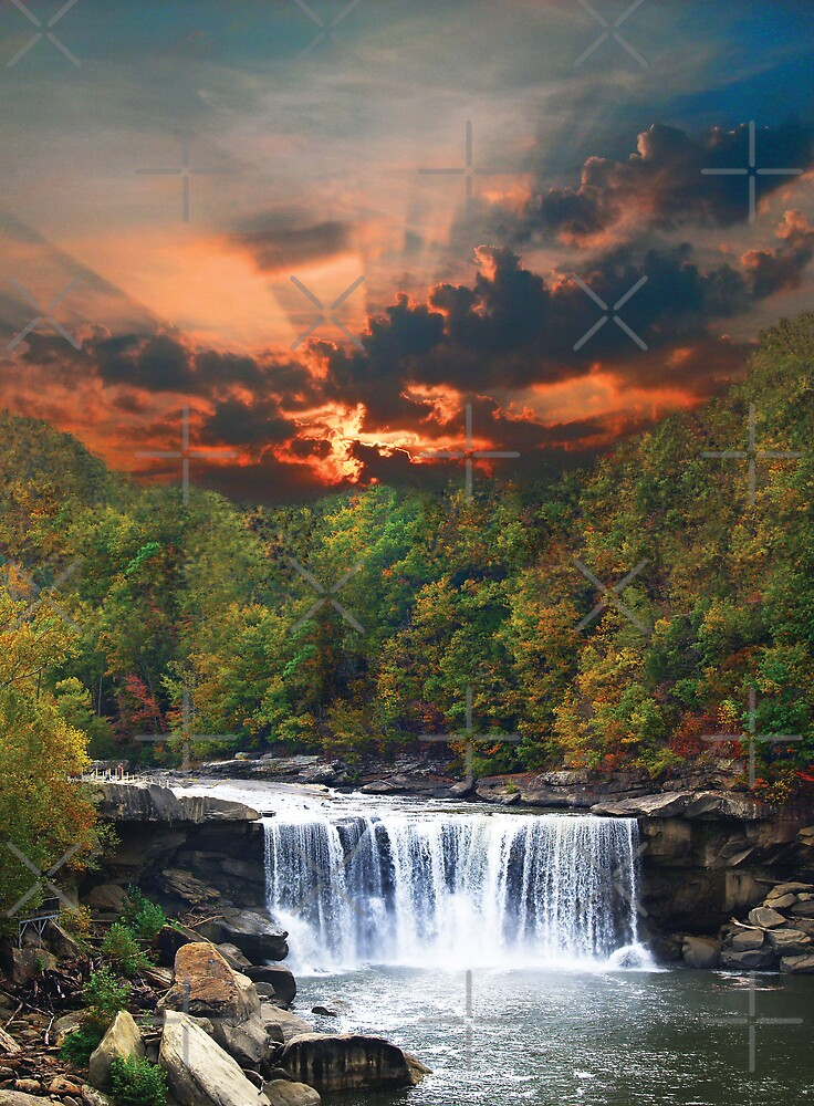 Cumberalnd Falls in Fall by pinkarmy25