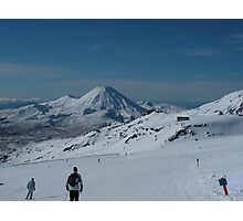 Skiing slopes in NZ Photographic Print