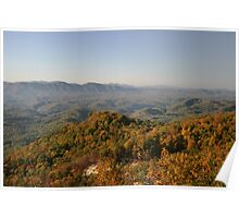 Autumn Colors Along Smoky Mountain Foothills Parkway Poster