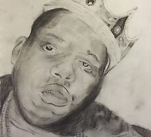 Sketch of Biggie Smalls by sargurl