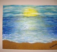 Sun with ocean by Frances DiBono