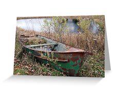 A Peeling Boat Greeting Card