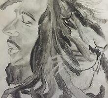 Sketch of Bob Marley by sargurl