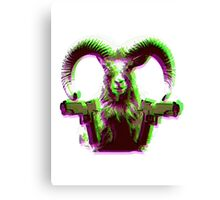 Love is two machine guns mounted on a Goat Canvas Print