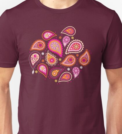 Colorful summer paisleys Unisex T-Shirt