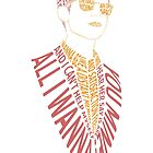 Colorful Alex Turner by inbarigami