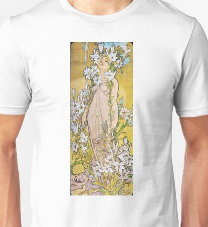 Alphonse Mucha - Lily Unisex T-Shirt