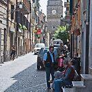 Streets of  an Italian Village by Warren. A. Williams