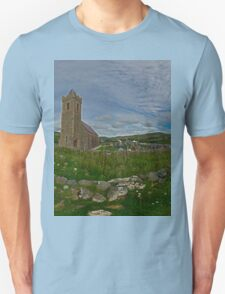 Glencolmcille Panorama with Church T-Shirt