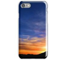 Christ the King Sunset - digital paint effect iPhone Case/Skin
