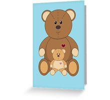 TWO TEDDY BEARS #2 Greeting Card