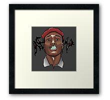 A$AP ROCKY - SMOKE Framed Print